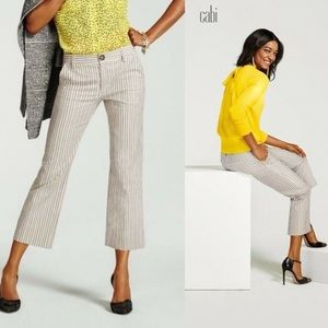 CAbi Tick Tock Striped Cropped Pant